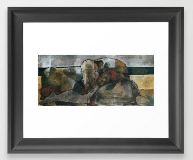 nap on the beach framed print