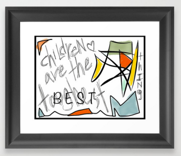 TwoArtists ChildrenAre FRAMED PRINT copy