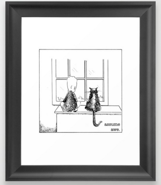 assume awe framed print copy