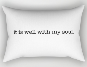 it is well RECT PILLOW copy