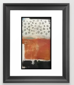 layered meditation FRAMED ART PRINT copy