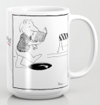 pay attention FLAWED mug copy