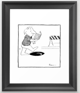 pay attention FRAMED ART PRINT copy