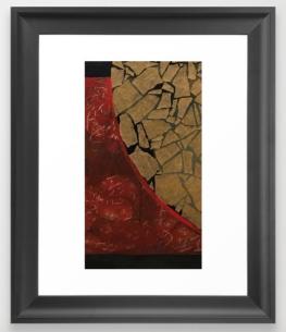quarter earth FRAMED ART PRINT copy
