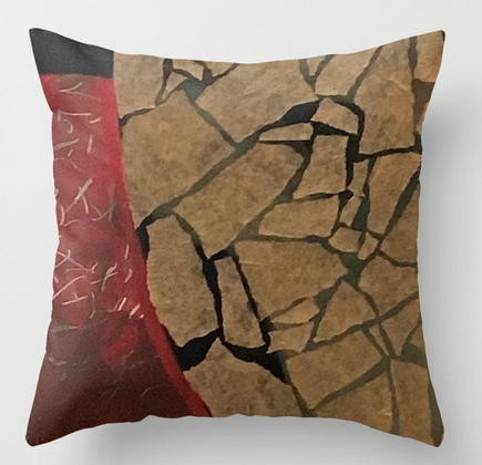 quarter earth square pillow copy