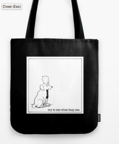 try to see what they see TOTE BAG copy