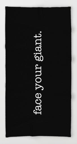 beanstalk FACE YOUR GIANT BEACH TOWEL copy