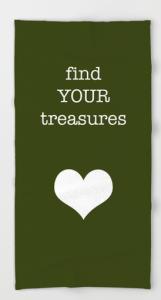 find your treasures BEACH TOWEL copy