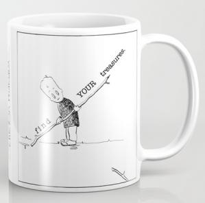 find your treasures CHICKEN mug copy