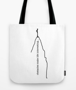 obstacles TOTE BAG