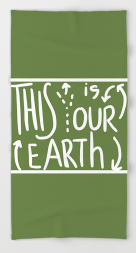 OUR EARTH BEACH TOWEL copy