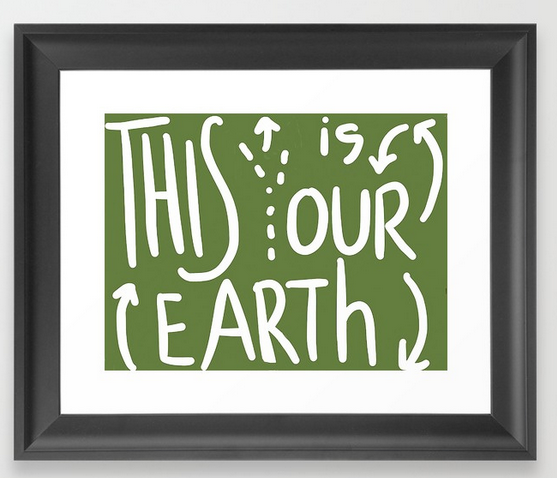 our earth FRAMED ART PRINT copy
