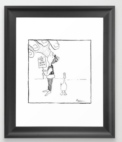 save beanstalk FRAMED ART PRINT copy