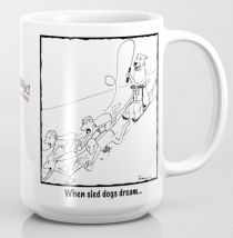 sled dogs dream MUG copy