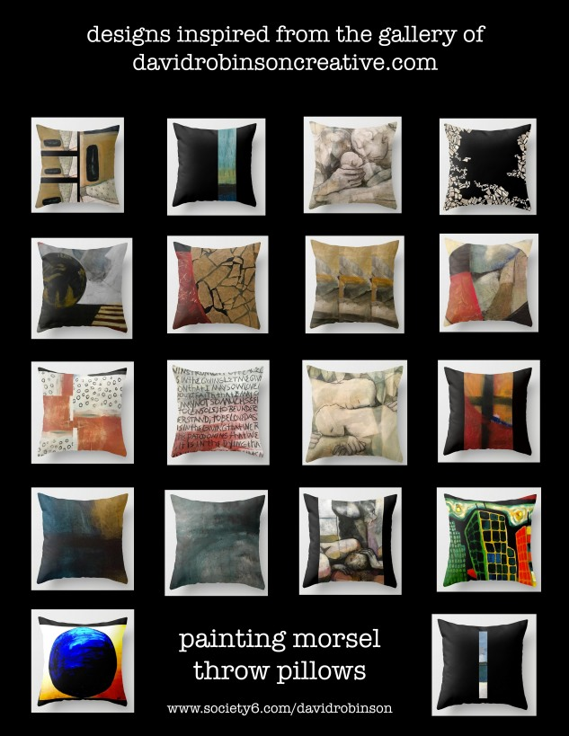pillow collage - d paintings