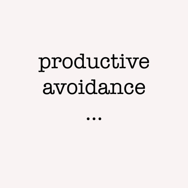 productive avoidance box