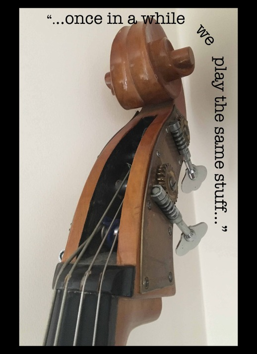 string bass with frame