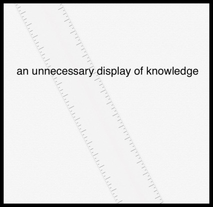 display of knowledge in frame copy