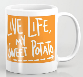 live life sweet potato mug
