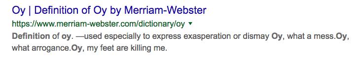 OY definition