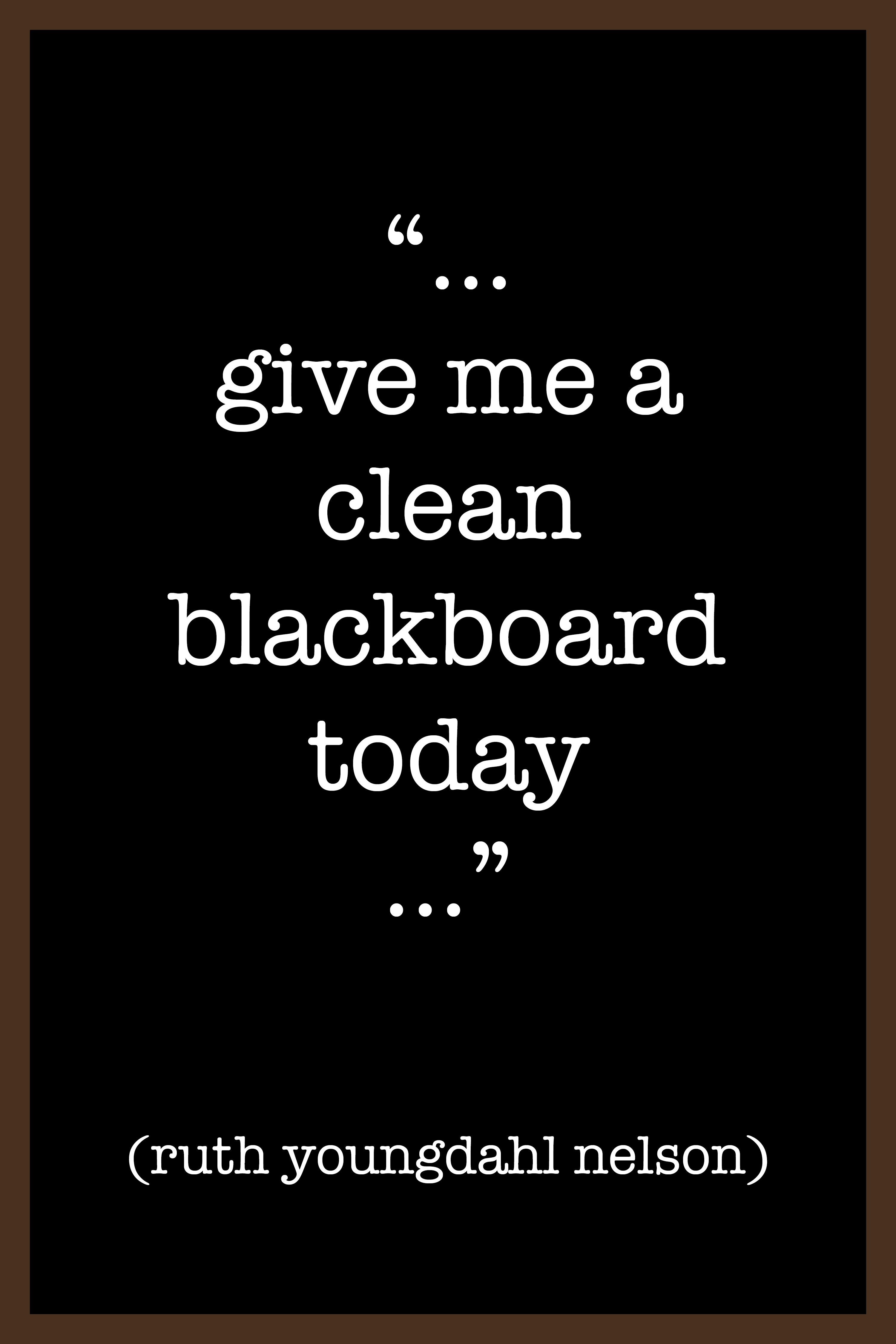 clean blackboard copy