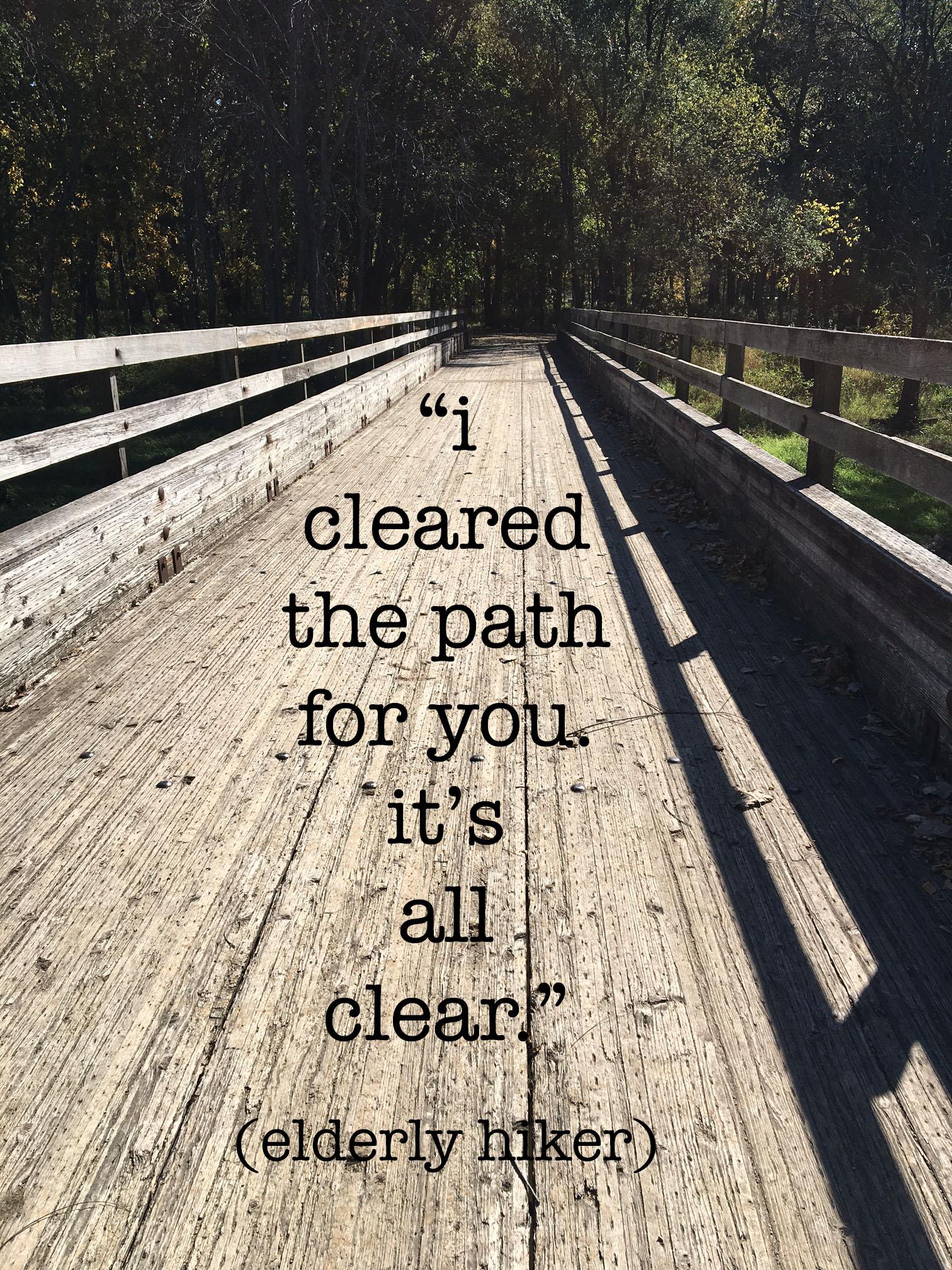 cleared the path bridge copy
