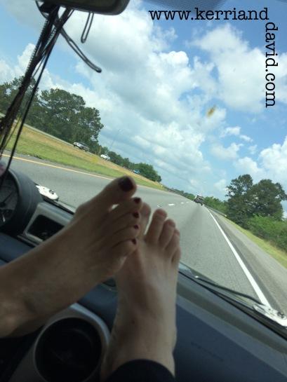 feet on dashboard website box