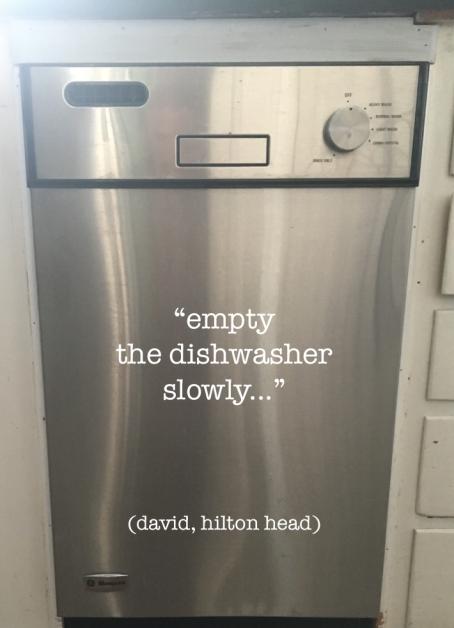 empty the dishwasher slowly box