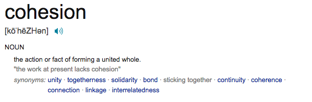cohesion definition