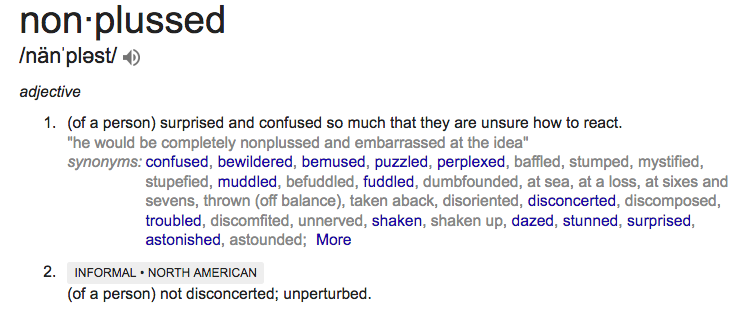 nonplussed definition