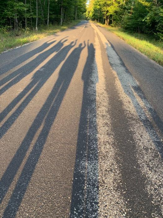 road shadows