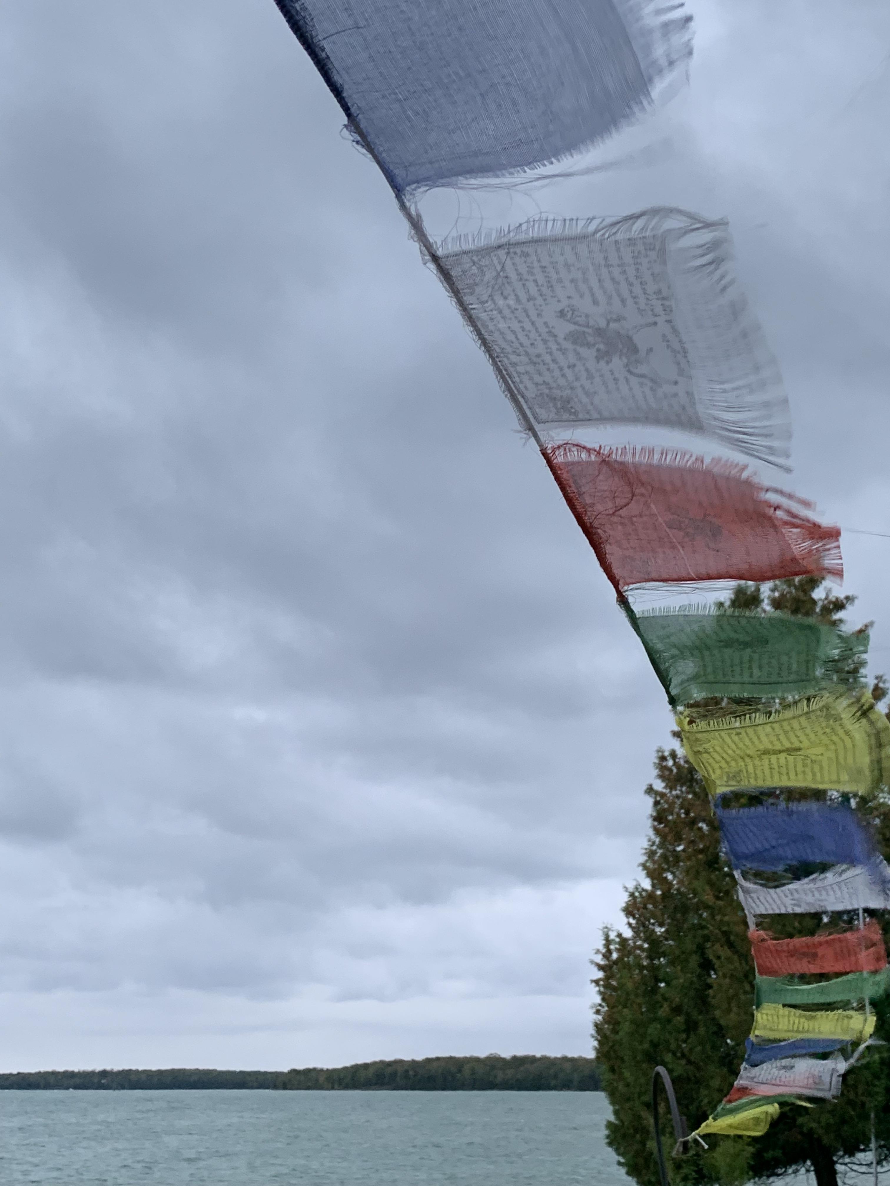 windblown flags