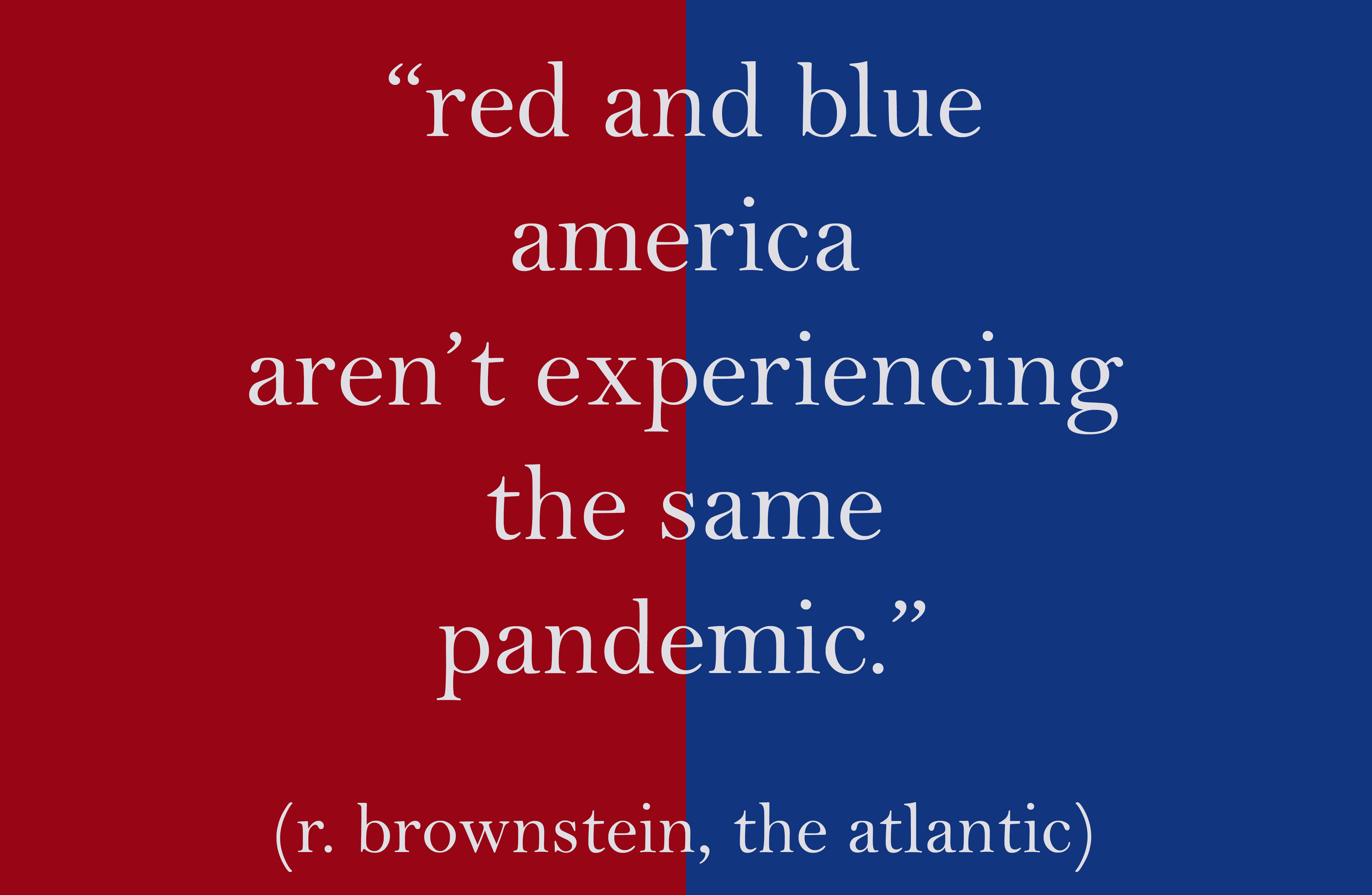 red and blue america