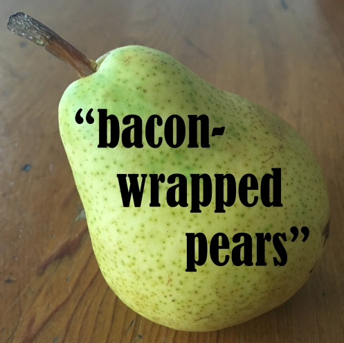 baconwrapped pears